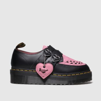Dr Martens Black & pink Lazy Oaf Buckle Creeper Lo Womens Flats