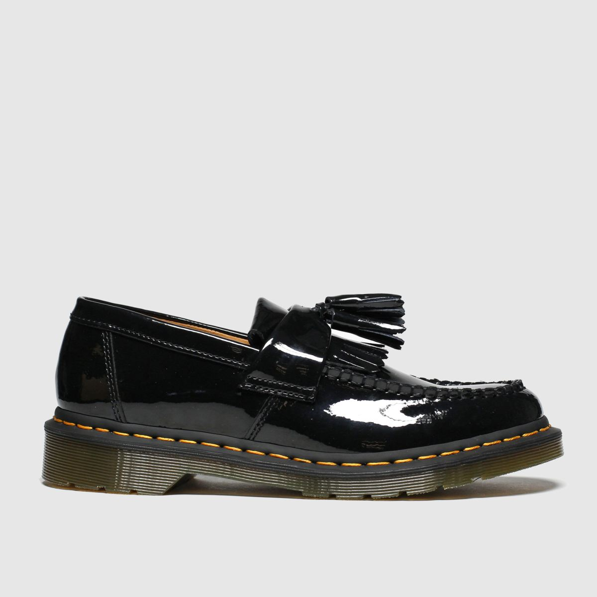 Dr Martens Black Adrian Flat Shoes