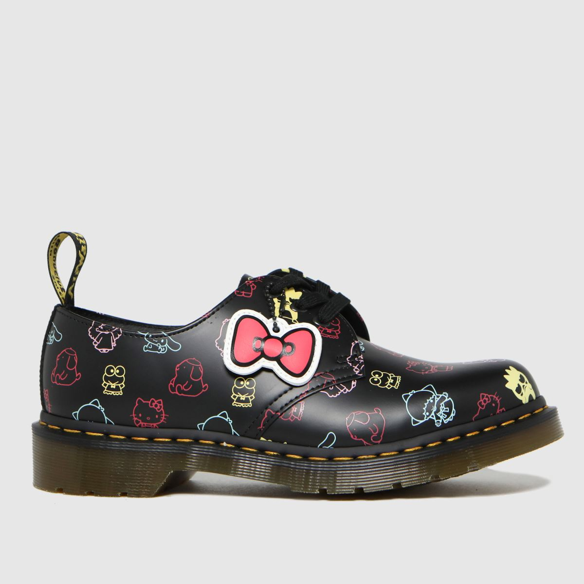 Dr Martens Black 1461 Hello Kitty Flat Shoes