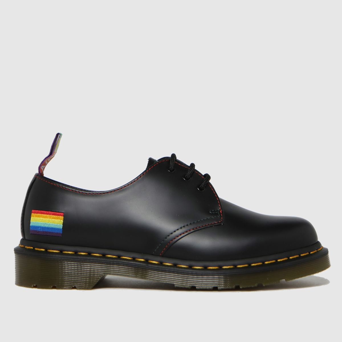 Dr Martens Black 1461 Pride Flat Shoes