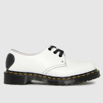 Dr Martens White 1461 Hearts Womens Flats