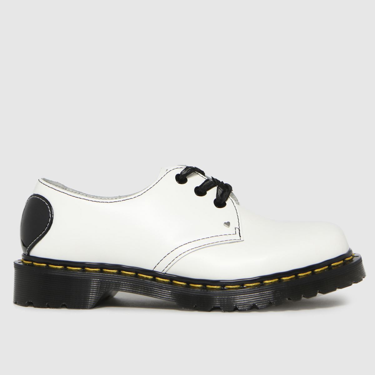 Dr Martens White 1461 Hearts Flat Shoes