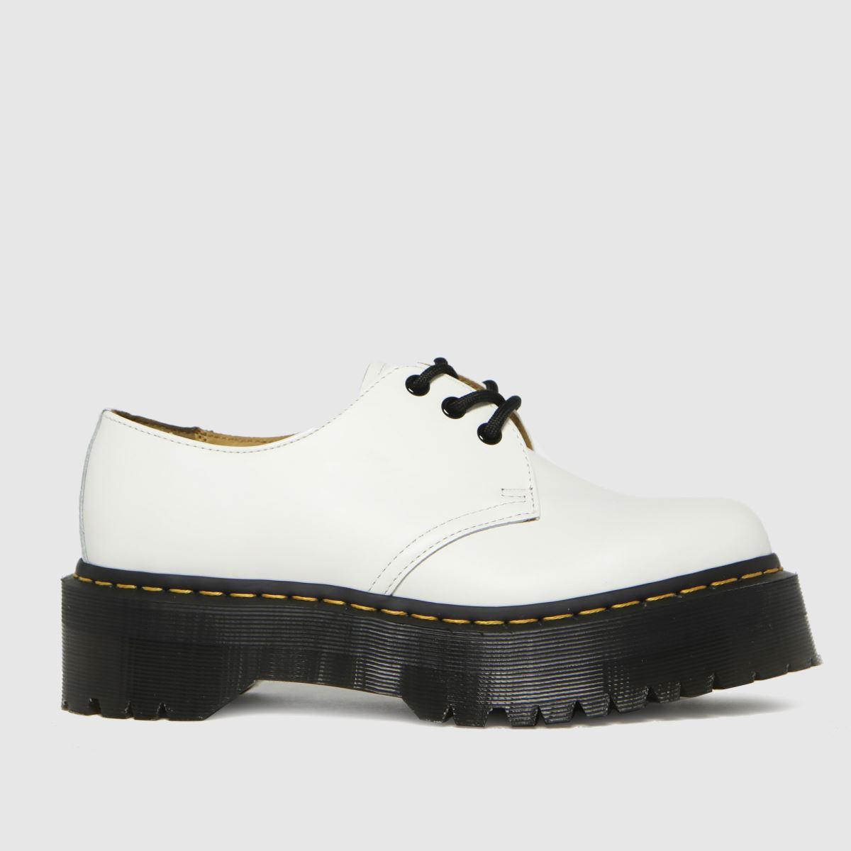 Dr Martens White 1461 Quad Flat Shoes