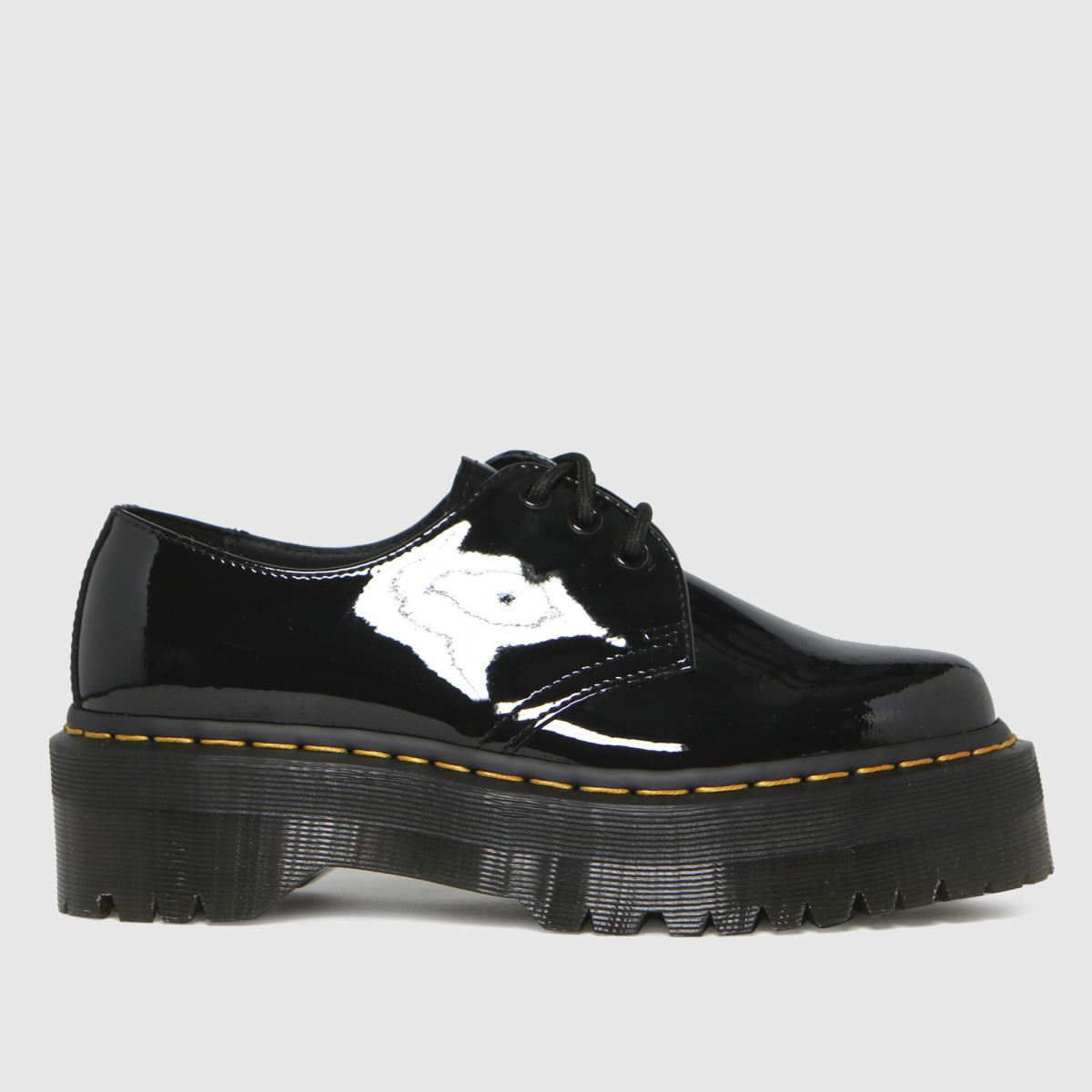 Dr Martens Black 1461 Quad Flat Shoes
