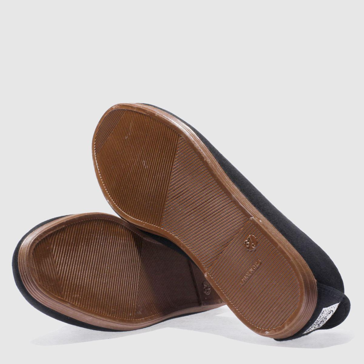 Damen Schwarz flossy Plimsoll Flats | schuh Gute Qualität beliebte beliebte beliebte Schuhe 33770a