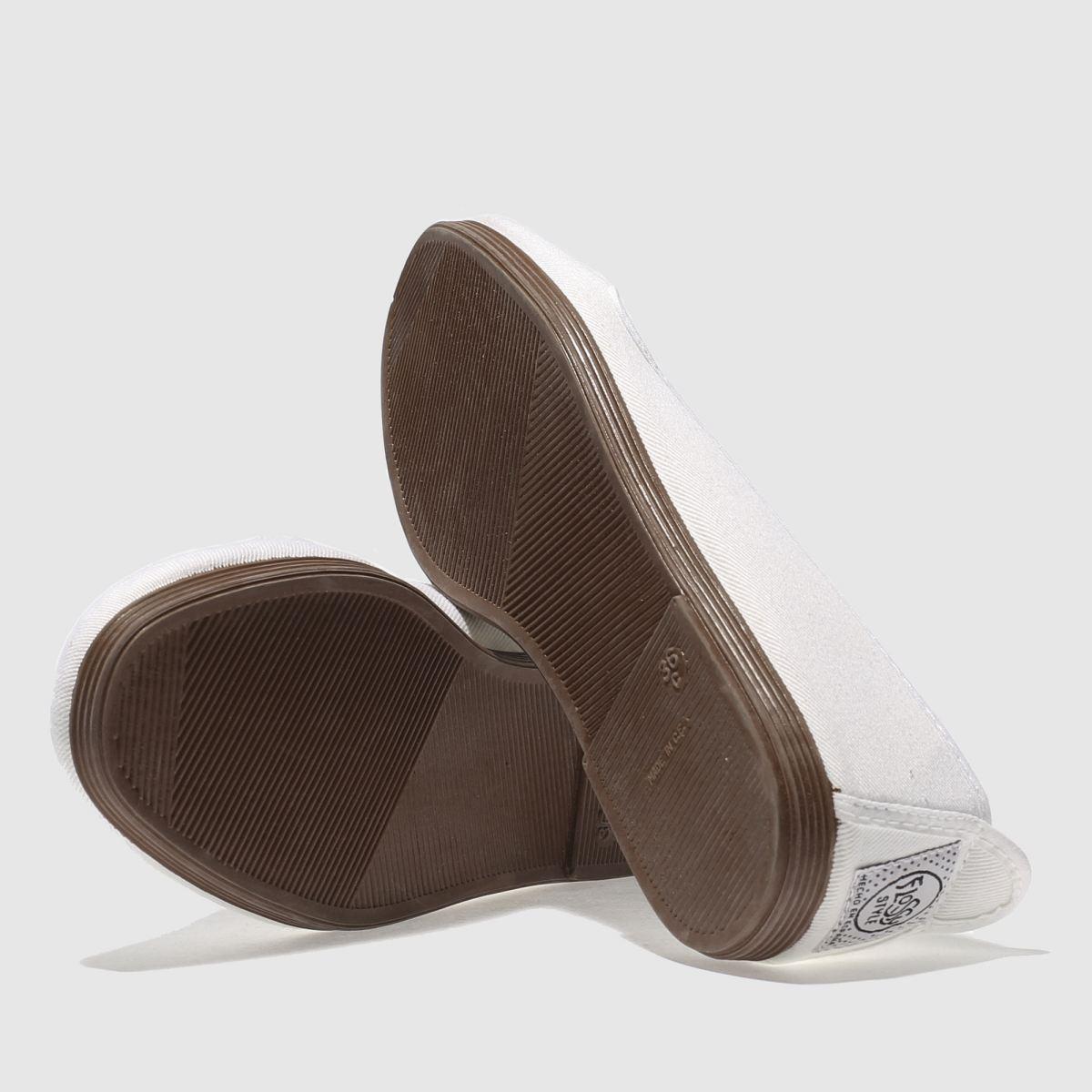 Damen   Weiß flossy Mijas Flats   Damen schuh Gute Qualität beliebte Schuhe aa7560