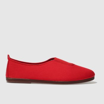 Flossy Red Califa Womens Flats