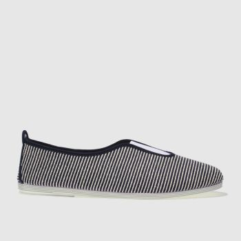 FLOSSY NAVY & WHITE CALIFA FLAT SHOES