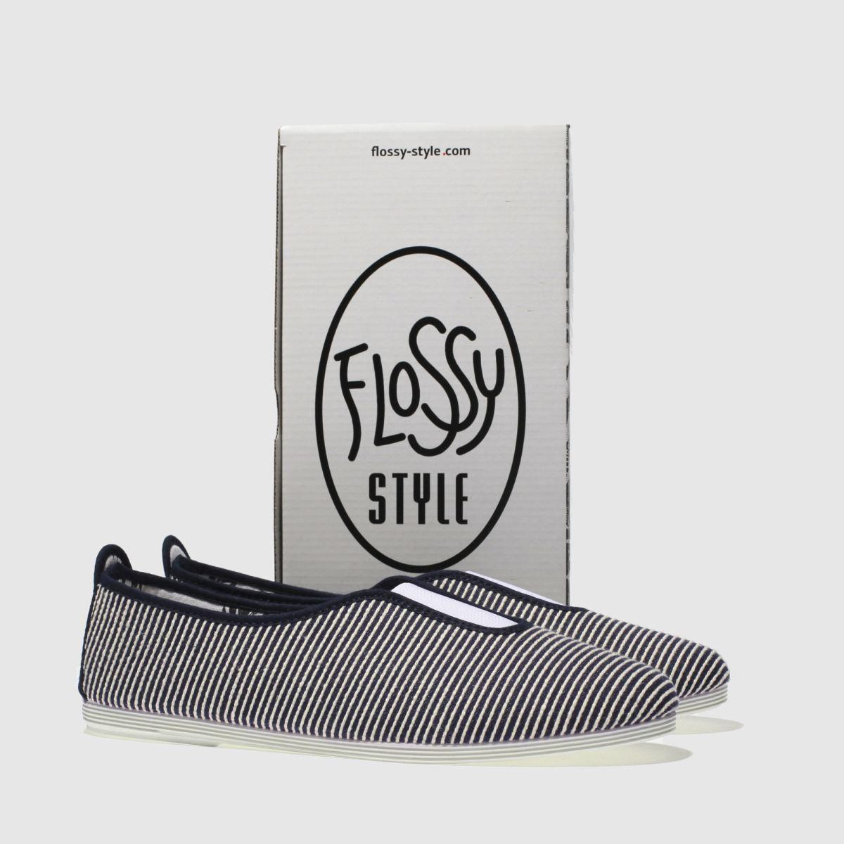 Damen Marineblau-weiß flossy Califa Flats | Schuhe schuh Gute Qualität beliebte Schuhe | 903e51