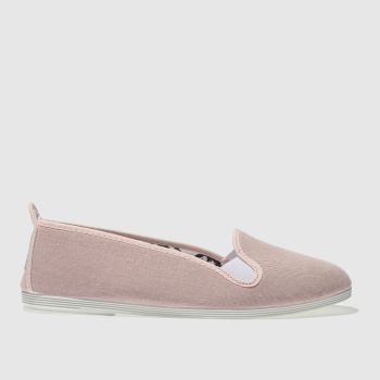 FLOSSY PALE PINK MIJAS FLAT SHOES