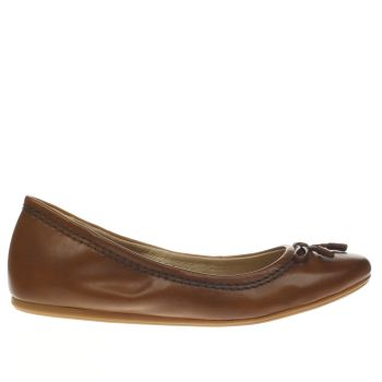 Hush Puppies Tan Lexa Heather Bow Womens Flats