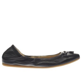 HUSH PUPPIES BLACK LEXA HEATHER BOW FLAT SHOES