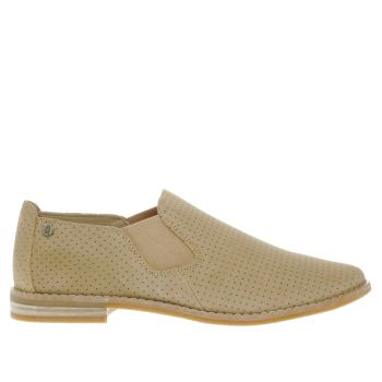 HUSH PUPPIES BEIGE ANALISE CLEVER FLAT SHOES