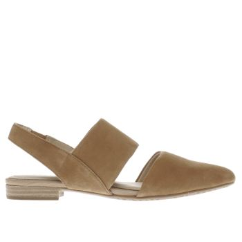 HUSH PUPPIES TAN JOTHAM PHOEBE FLAT SHOES