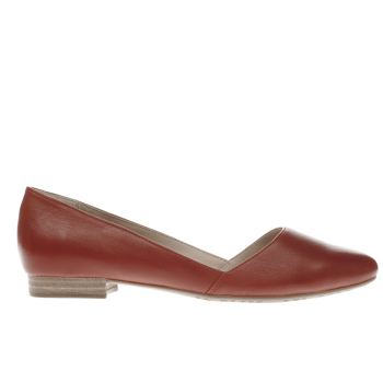 HUSH PUPPIES RED JOVANNA PHOEBE FLAT SHOES