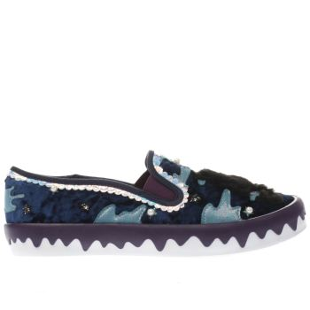 Irregular Choice Navy & Pl Blue PERFECT NIGHT Flats