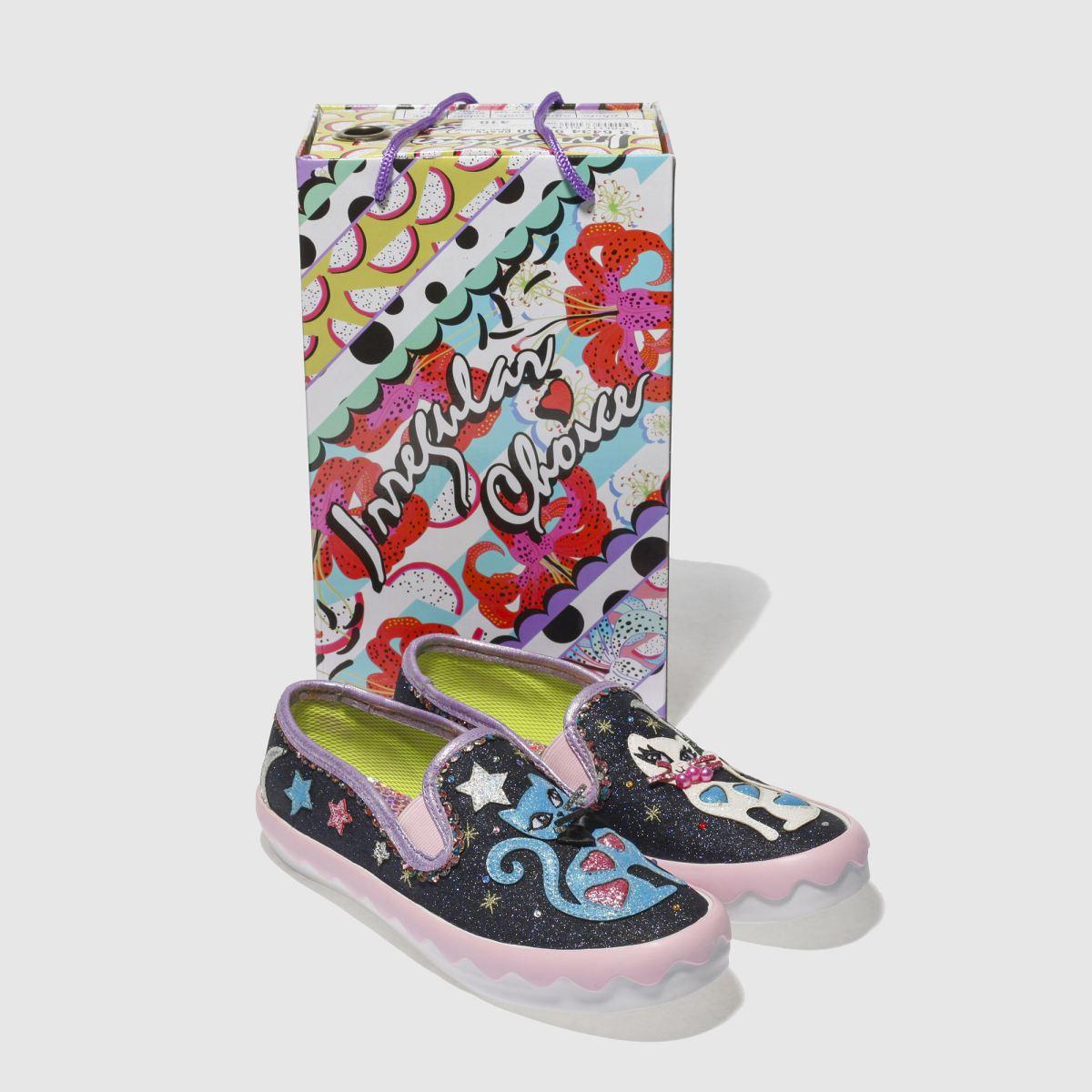 Damen schuh Schwarz-pink irregular choice Pretty Kitty Flats | schuh Damen Gute Qualität beliebte Schuhe d36dcf