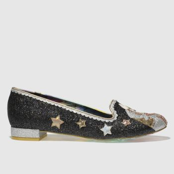 Irregular Choice Black Loosen The Reins Womens Flats