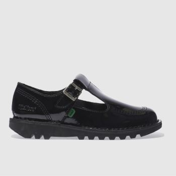 kickers black kick lo aztec flat shoes