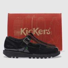 0ceece4278 womens black kickers kick lo aztec flat shoes | schuh