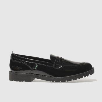 Kickers Black Lachly Loafer Womens Flats