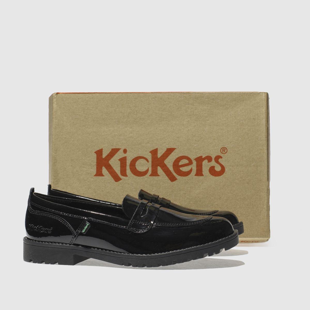 Damen Schwarz kickers Lachly Loafer Flats | Schuhe schuh Gute Qualität beliebte Schuhe | d002e4