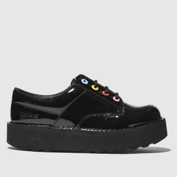 Kickers Black Kick Lo Stack Womens Flats