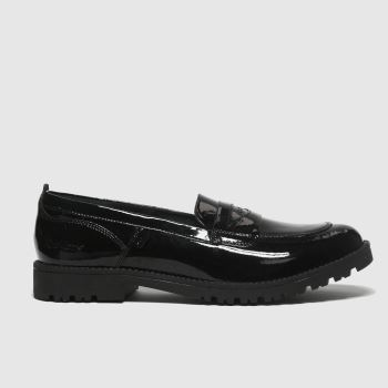 Kickers Black Lachley Loafer Womens Flats#