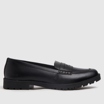 Kickers Black Lachly Loafer Mono Womens Flats