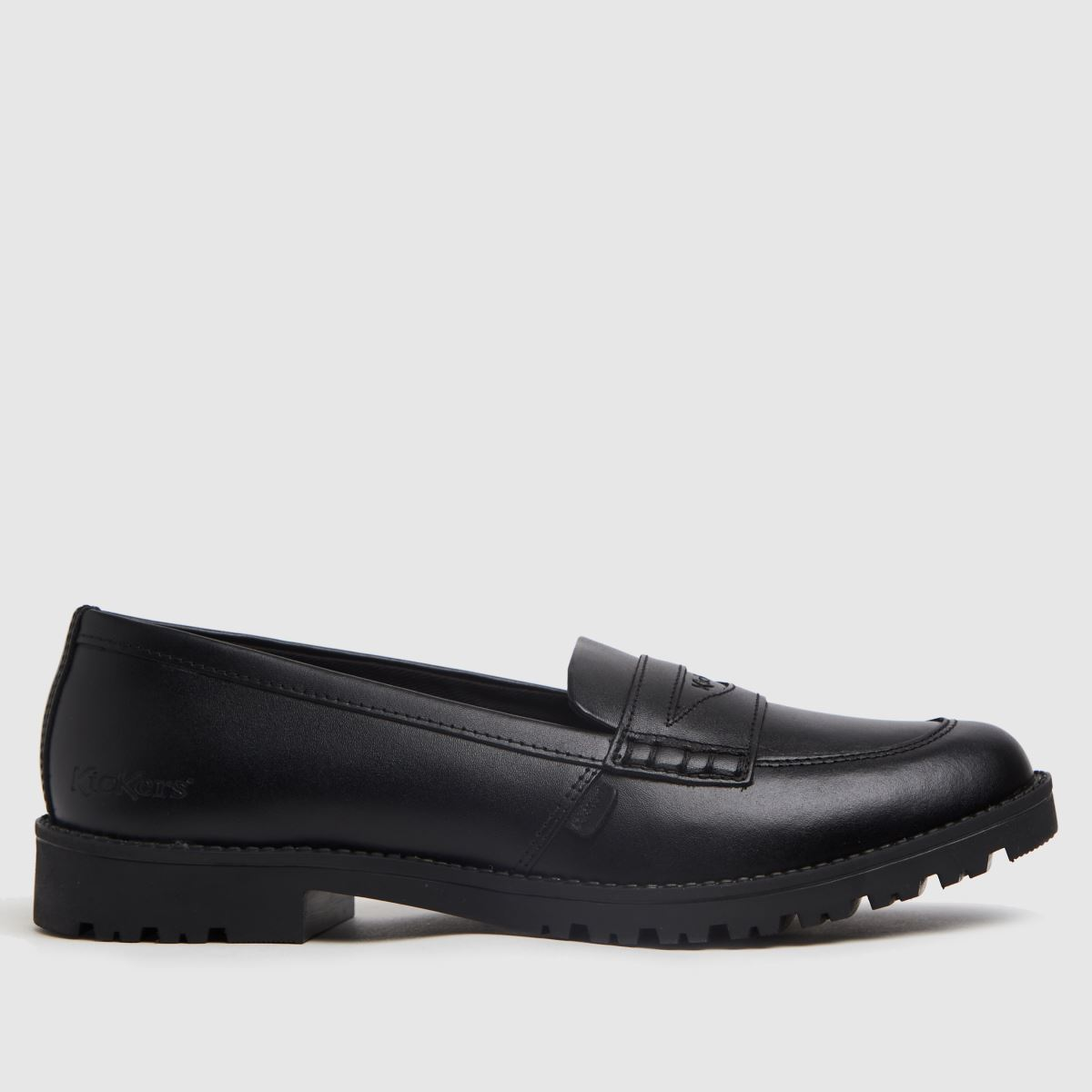 Kickers Black Lachly Loafer Mono Flat Shoes