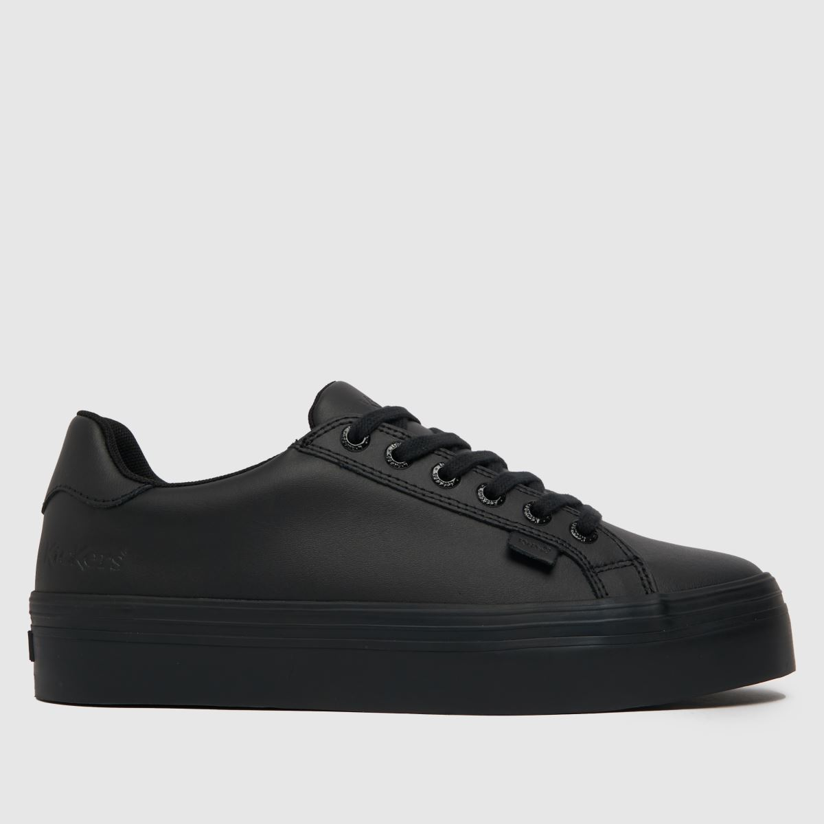 Kickers Black Tovni Stack Flat Shoes