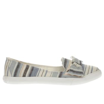 Rocket Dog White & Blue CLARITA PIERCE Flats
