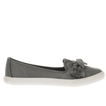 Rocket Dog Grey Clarita Beach Canvas Womens Flats