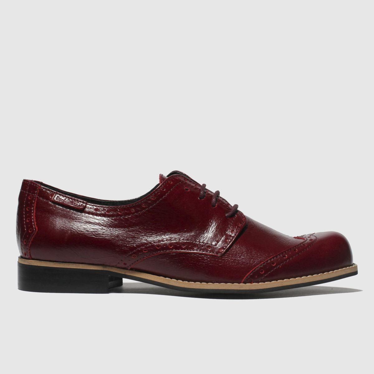 Red Or Dead Burgundy Rosie Ii Flat Shoes
