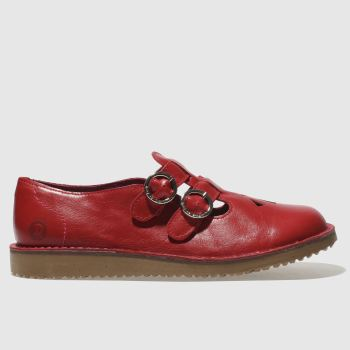 Red Or Dead Red Miss Brody Womens Flats