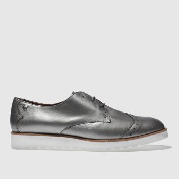 RED OR DEAD SILVER MISS PARKIN FLAT SHOES