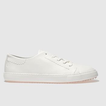 Red Or Dead White Arlo Womens Flats