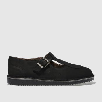 RED OR DEAD BLACK MISS JONES FLAT SHOES