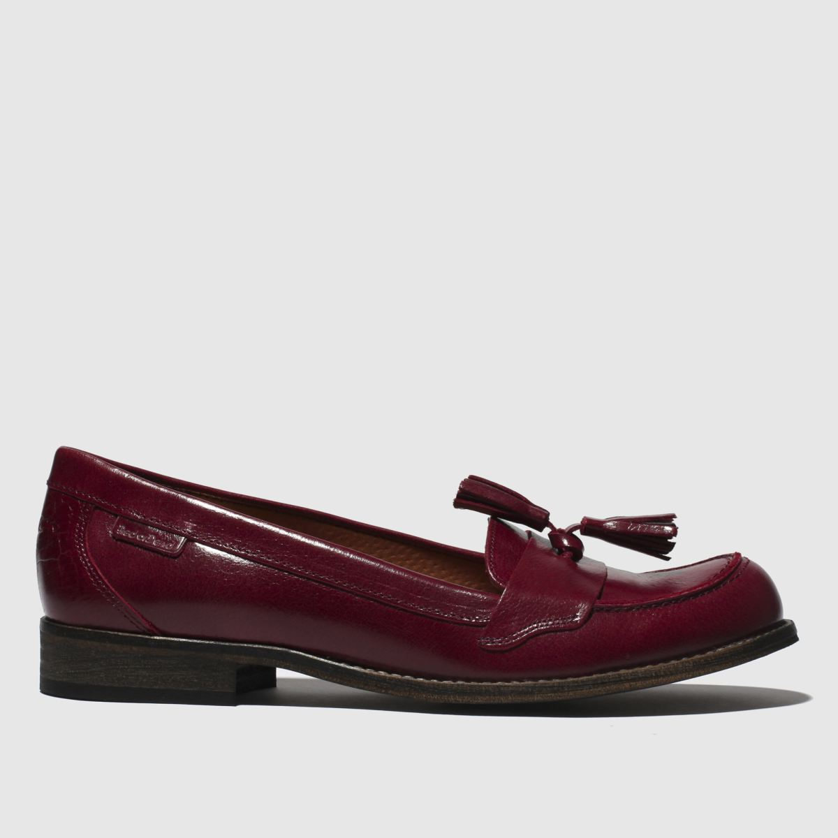 Red Or Dead Burgundy Poppy Flat Shoes