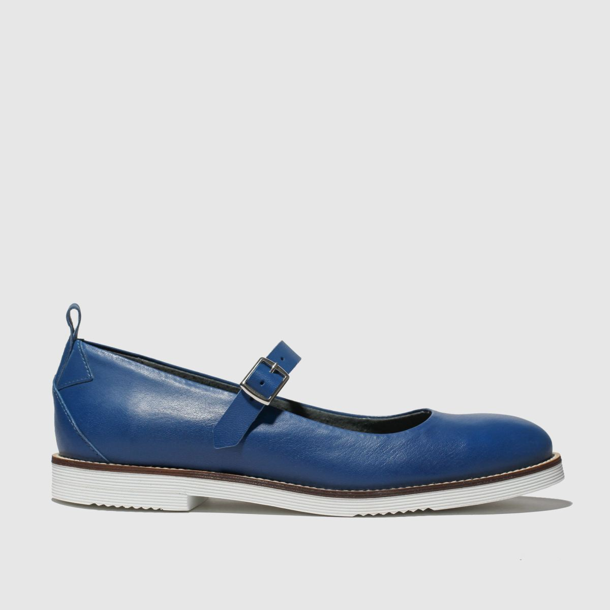 Red Or Dead Navy Drew Flat Shoes