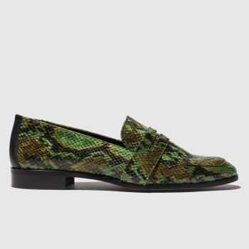 red or dead green billie flat shoes