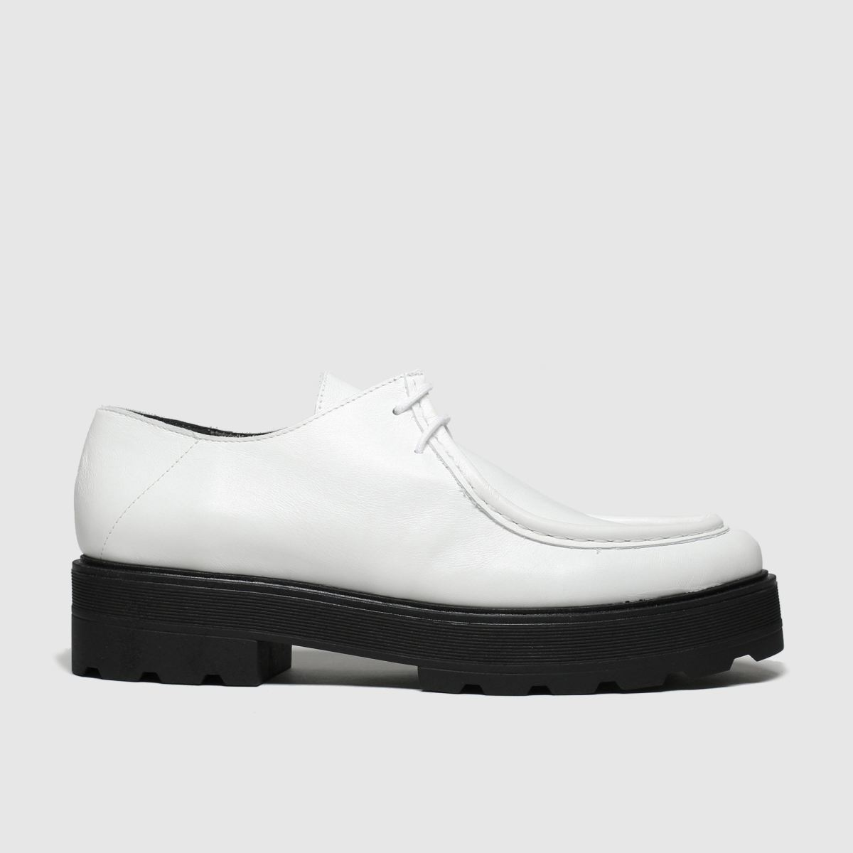 Red Or Dead White Colton Flat Shoes