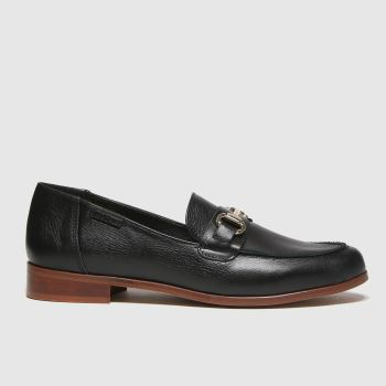 RED OR DEAD Schwarz River Leather Smart Loafer Damen Flats