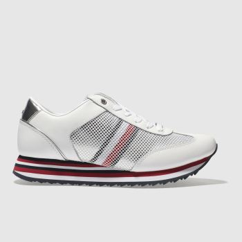 Tommy Hilfiger White & Navy CORPORATE FLAG SNEAKER Trainers