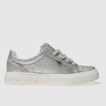 396643da1cd518 womens silver tommy hilfiger tj glitter sneaker trainers