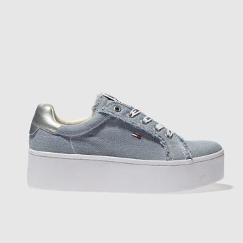 Tommy Hilfiger Blue Tj Icon Denim Sneaker Womens Trainers