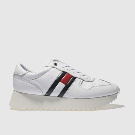 e0dbd8dc18c0 womens white tommy hilfiger high cleated sneaker trainers