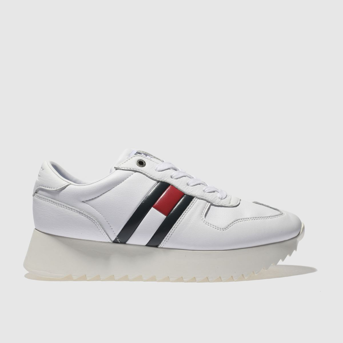 Tommy Hilfiger White High Cleated Sneaker Trainers