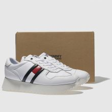 f1af1b21 womens white tommy hilfiger high cleated sneaker trainers | schuh