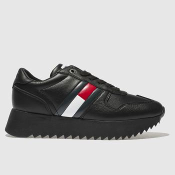 Tommy Hilfiger Black Tj High Cleated Sneaker Womens Trainers
